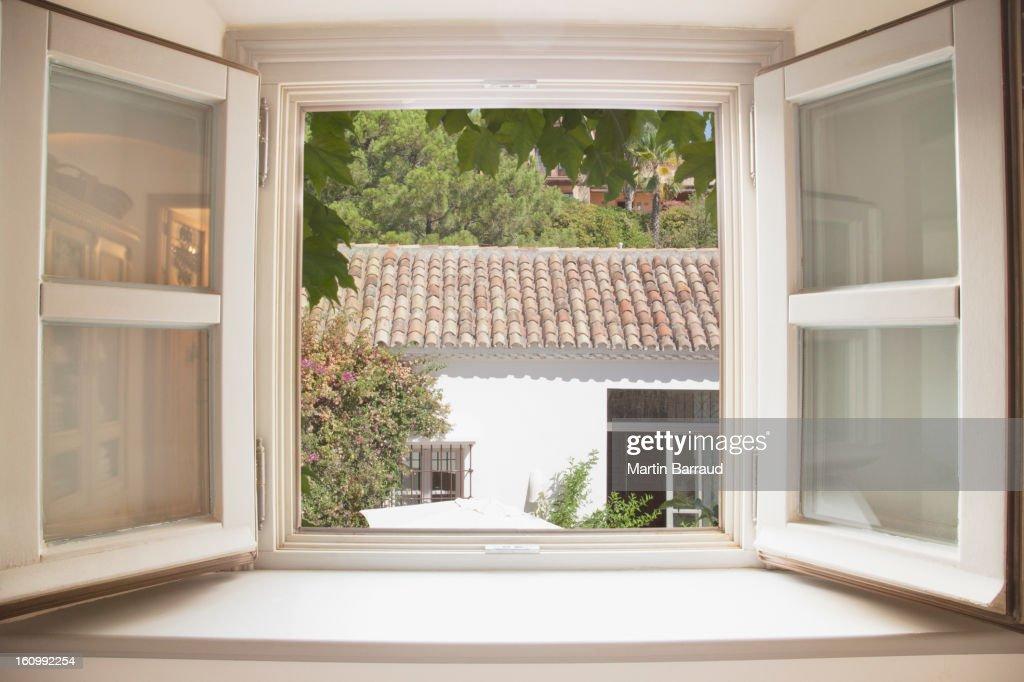 Sun shining through kitchen window