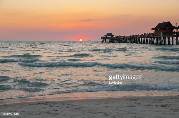 Sun Sinks Below Horizon at Gulf of Mexico