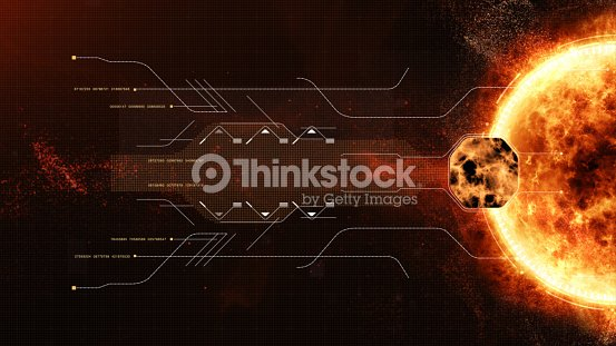 hud sun solar flare particles coronal mass ejections : stock photo