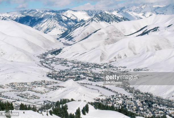 Sun Valley Covered in Snow