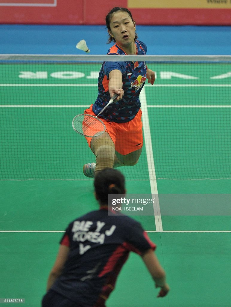 Sun Yu of China plays against Bae Yeon Ju of Korea during their