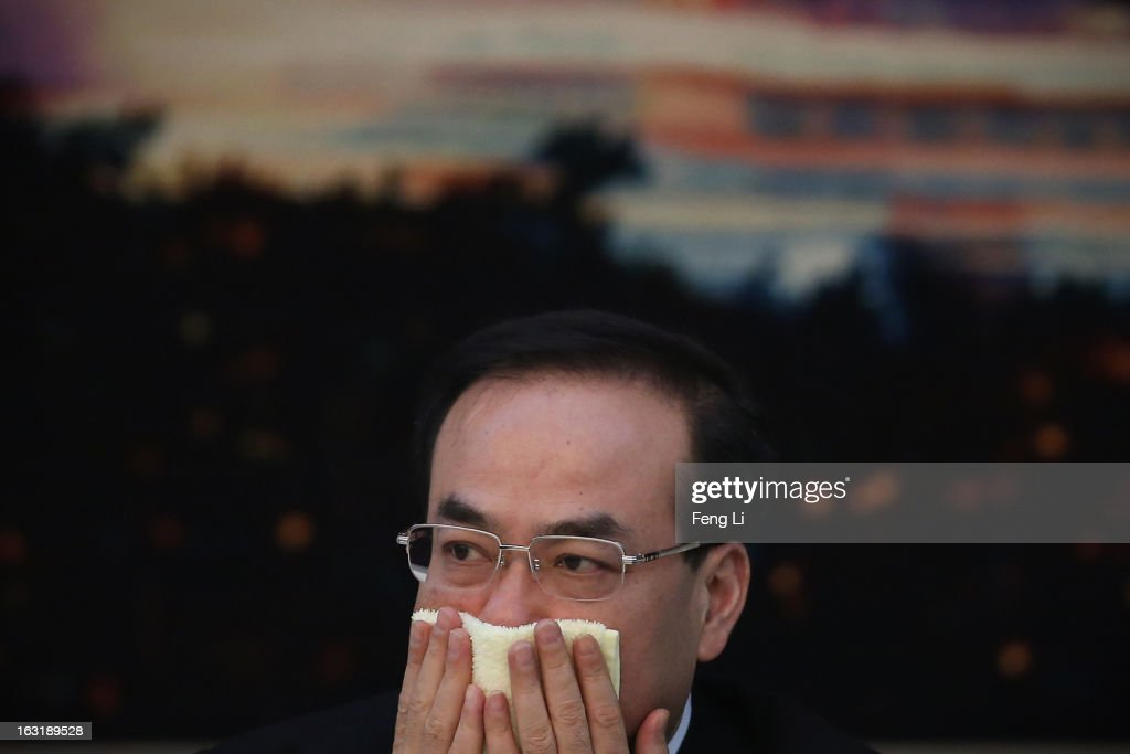 Sun Zhengcai member of the Political Bureau of the CPC Central Committee and Chongqing Municipality Communist Party Secretary attends the Chongqing...