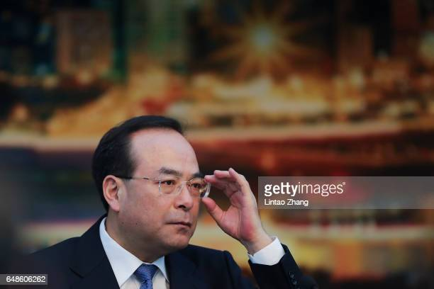 Sun Zhengcai nember of the Political Bureau of the CPC Central Committee and Chongqing Municipality Communist Party Secretary attends the Chongqing...