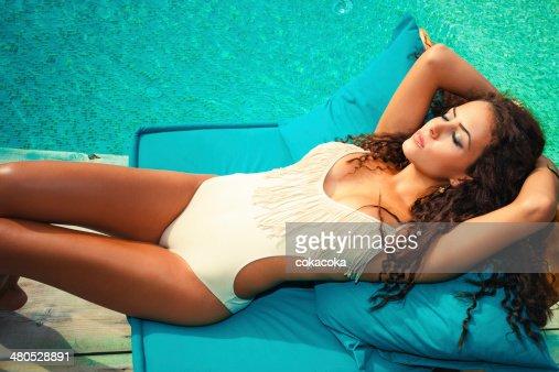 sunbath : Stock Photo