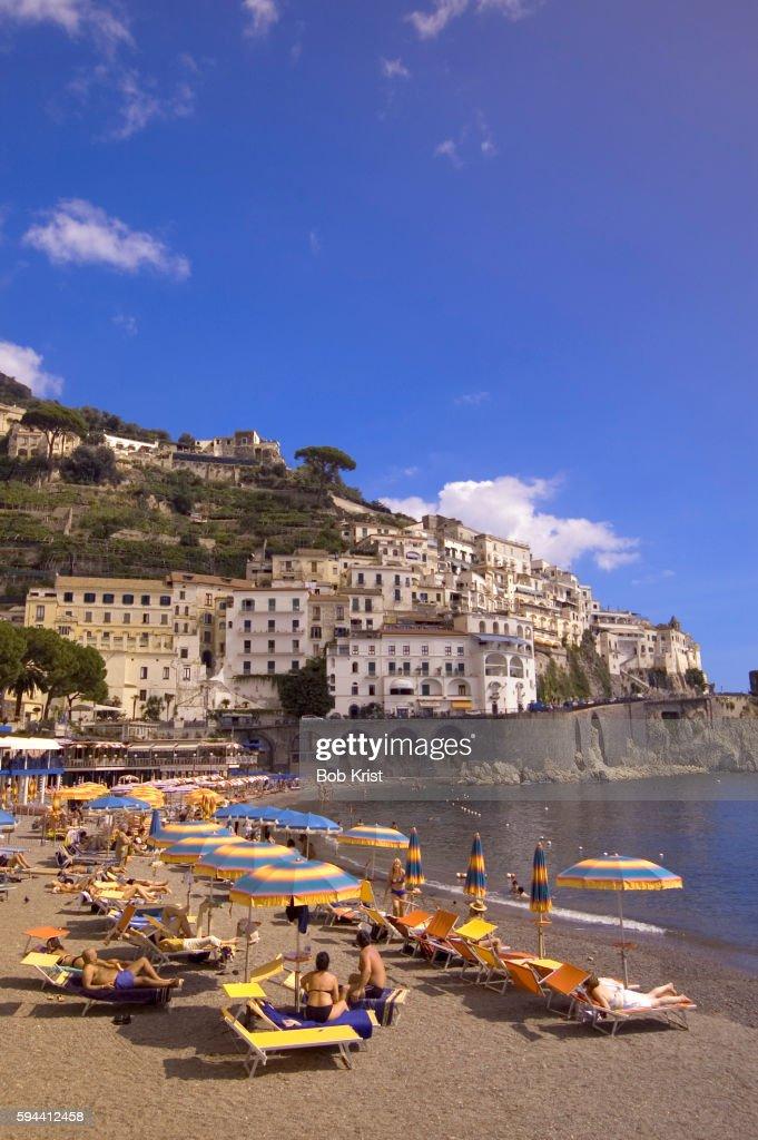 Sunbathers at Amalfi