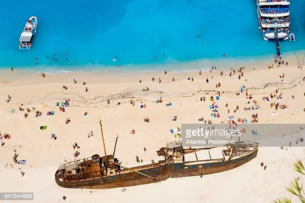 Sunbathers at Shipwreck Beach