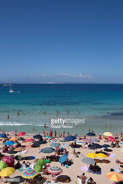 Sunbathers on the beach, Palau, Olbia-Tempio, Italy