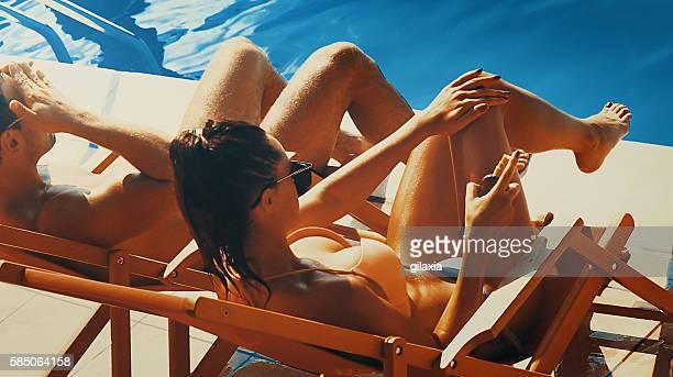 Sunbathing,