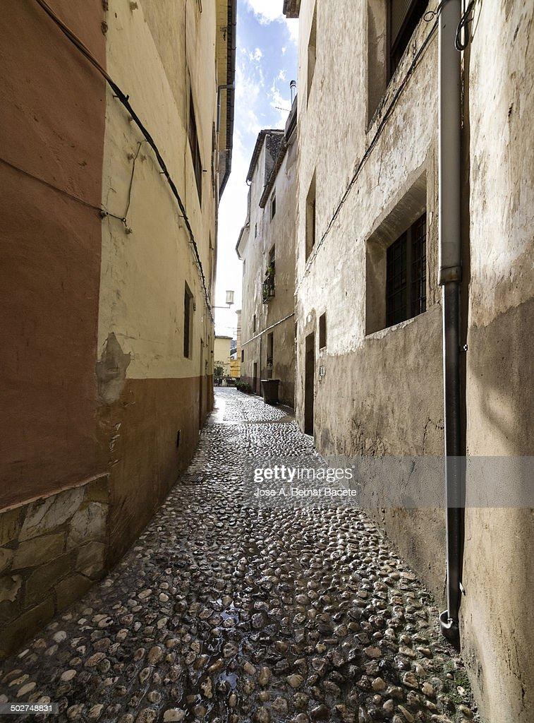Sunbeam entering through a narrow alley