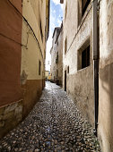 Sunbeam entering through a narrow alley