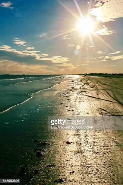 sunbeam over the sea
