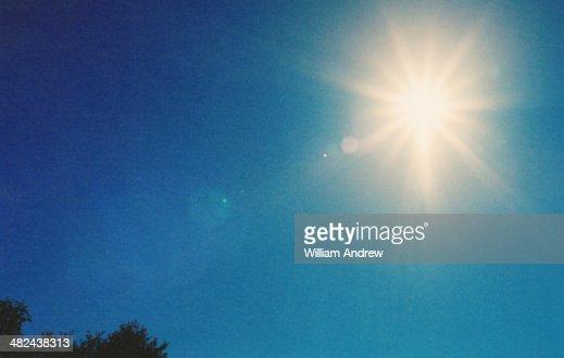 Sunburst in sky