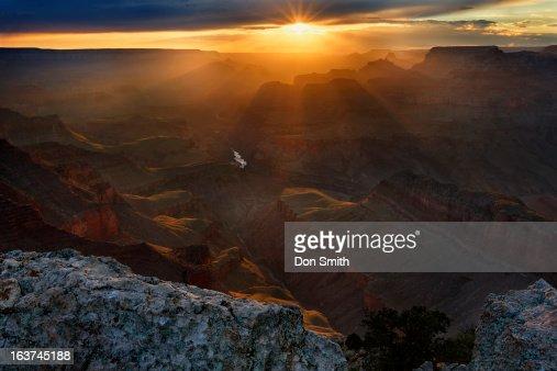 Sunburst Over Grand Canyon