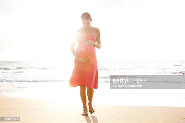 sunburst pregnant serene beach