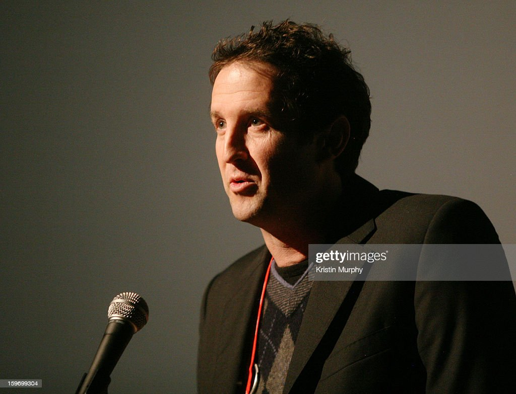 Sundance Director of Programming <a gi-track='captionPersonalityLinkClicked' href=/galleries/search?phrase=Trevor+Groth&family=editorial&specificpeople=561179 ng-click='$event.stopPropagation()'>Trevor Groth</a> speaks onstage during the 'Shopping' premiere at Egyptian Theatre during the 2013 Sundance Film Festival on January 18, 2013 in Park City, Utah.