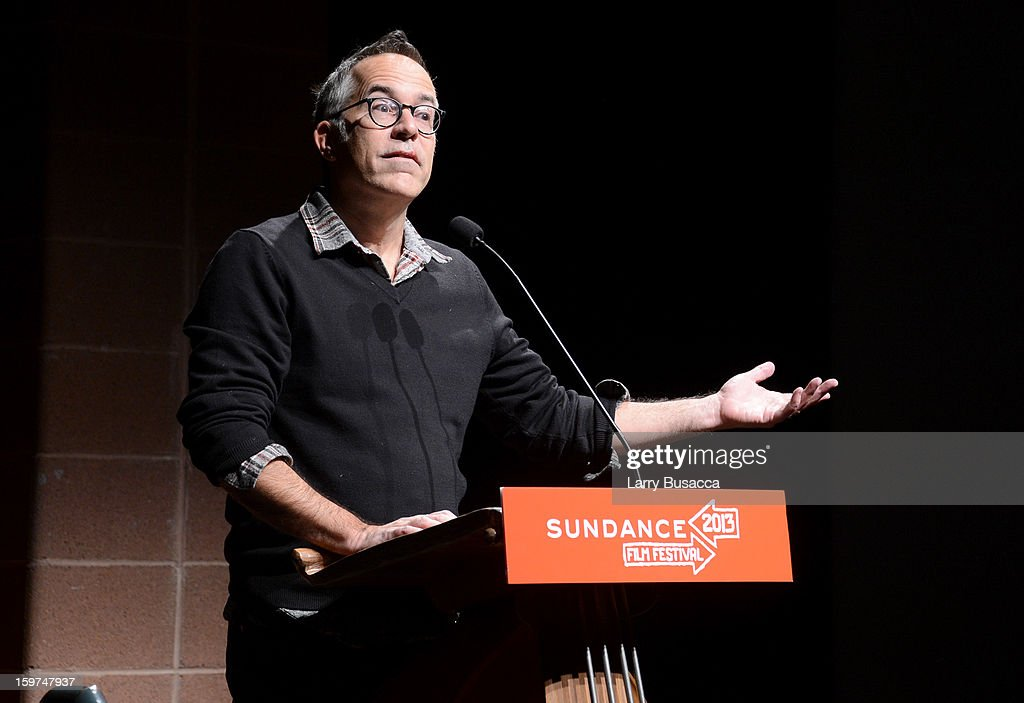 Sundance Festival Director John Cooper speaks onstage at the 'History of the Eagles Part 1' premiere and Q&A during the 2013 Sundance Film Festival at Eccles Theater on January 19, 2013 in Park City, Utah.