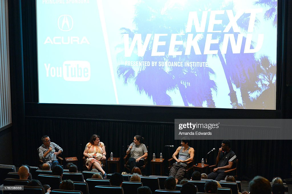 Sundance Film Festival Director John Cooper and filmmakers Allison Anders, Hannah Fidell, Gregg Araki and Shaka King attend the NEXT WEEKEND Presented By Sundance Institute -