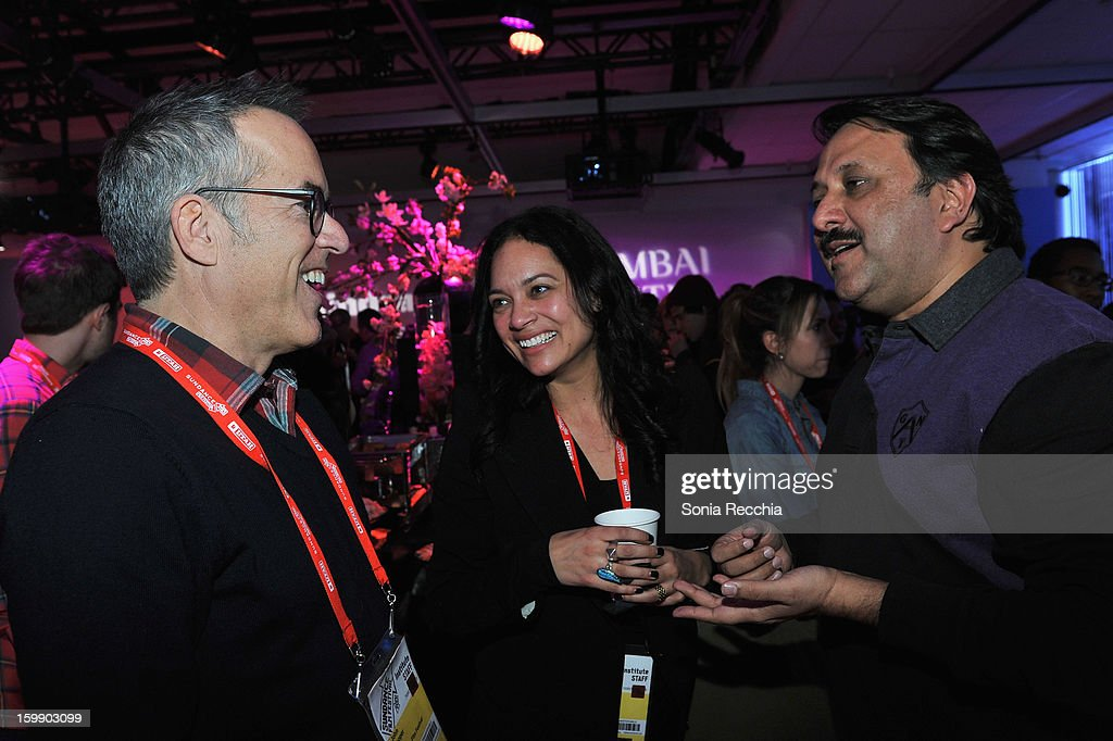 Sundance Film Festival Director John Cooper (L) and producer Rohit Khattar attend the Sundance Institute Mahindra Global Filmmaking Award Reception at Sundance House on January 22, 2013 in Park City, Utah.