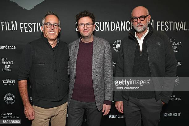 Sundance Film Festival Director John Cooper Craig Johnson and Daniel Clowes attend the Sundance Premiere of FOX Searchlights' 'Wilson' at Eccles...