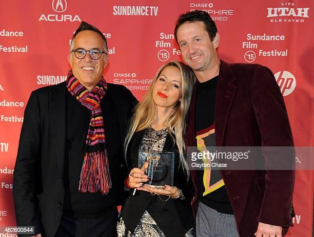 Sundance Film Festival Director John Cooper Director Crystal Moselle and Sundance Film Festival Director of Programming Trevor Groth attend the...