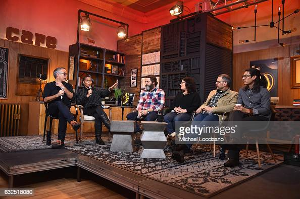 Sundance Film Festival Director John Cooper Director of Documentary Film Program at Sundance Institute Tabitha Jackson Nick Offerman Bonni Cohen Jon...