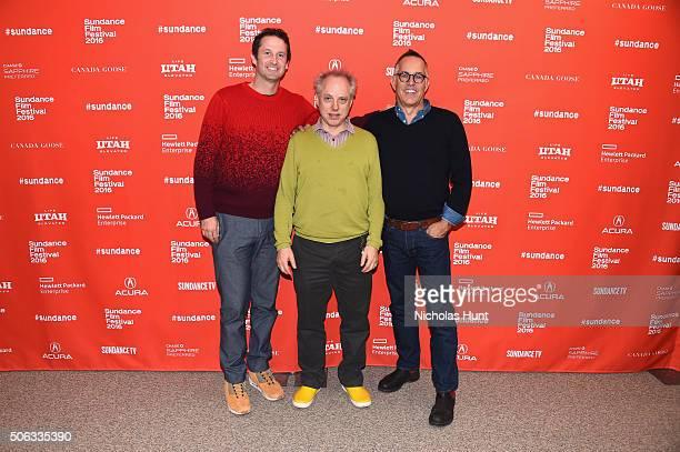 Sundance Film Festival Director John Cooper Director Todd Solondz and Sundance Film Festival Director of Programming Trevor Groth attend the...