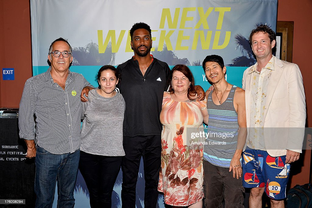 Sundance Film Festival Director John Cooper, filmmakers Hannah Fidell, Shaka King, Allison Anders and <a gi-track='captionPersonalityLinkClicked' href=/galleries/search?phrase=Gregg+Araki&family=editorial&specificpeople=213371 ng-click='$event.stopPropagation()'>Gregg Araki</a> and Sundance Film Festival Director of Programming <a gi-track='captionPersonalityLinkClicked' href=/galleries/search?phrase=Trevor+Groth&family=editorial&specificpeople=561179 ng-click='$event.stopPropagation()'>Trevor Groth</a> attend the NEXT WEEKEND Presented By Sundance Institute -