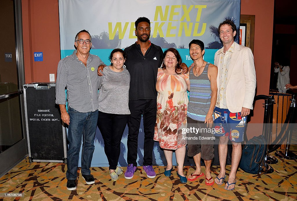 Sundance Film Festival Director John Cooper, filmmakers Hannah Fidell, Shaka King, Allison Anders and Gregg Araki and Sundance Film Festival Director of Programming Trevor Groth attend the NEXT WEEKEND Presented By Sundance Institute -