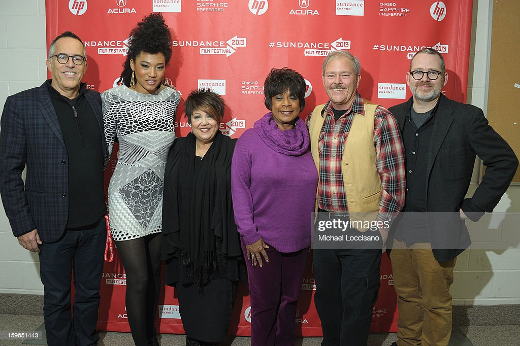 Sundance Film Festival Director John Cooper, singers Judith Hill, Tata Vega and Merry Clayton, Park City Mayor <a gi-track='captionPersonalityLinkClicked' href=/galleries/search?phrase=Dana+Williams+-+Politician&family=editorial&specificpeople=15185031 ng-click='$event.stopPropagation()'>Dana Williams</a> and director Morgan Neville attend the 'Twenty Feet From Stardom' premiere during the 2013 Sundance Film Festival at Eccles Center Theatre on January 17, 2013 in Park City, Utah.