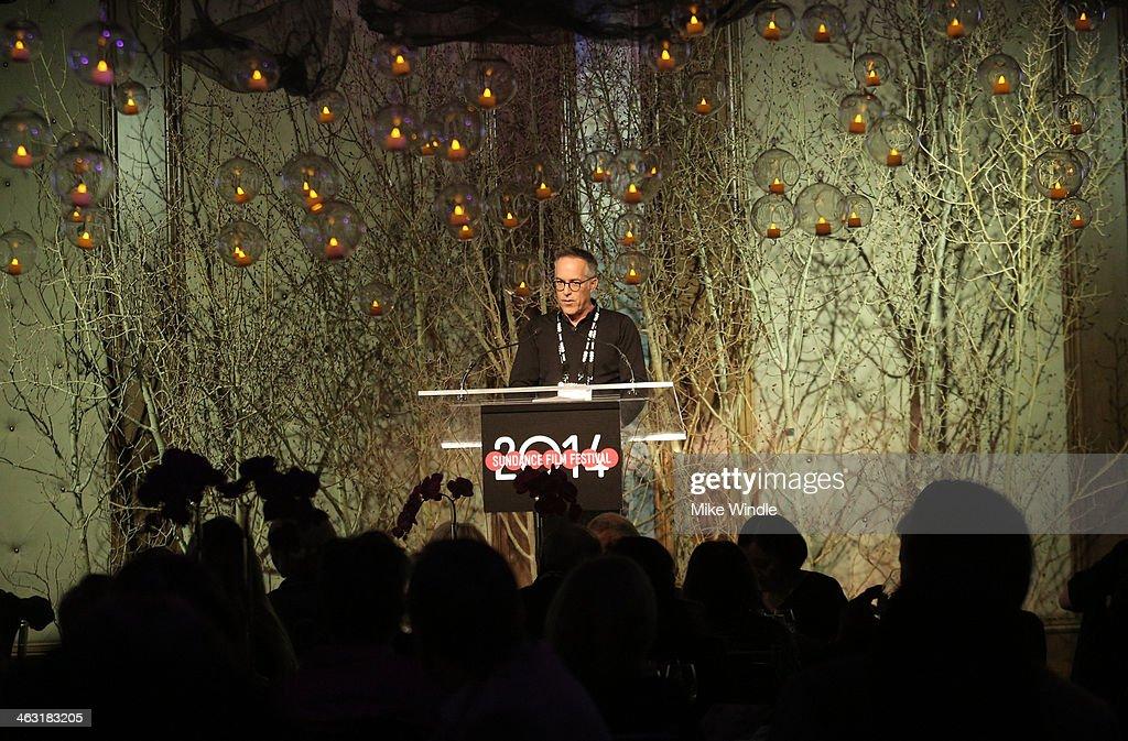 Sundance Film Festival Director John Cooper speaks An Artist at the Table: Dinner Program during the 2014 Sundance Film Festival at Stein Eriksen Lodge on January 16, 2014 in Park City, Utah.