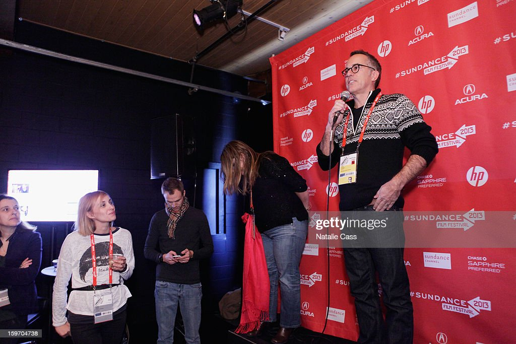 Sundance Film Festival Director John Cooper speaks onstage during the World Welcome Brunch at New Frontier on January 18, 2013 in Park City, Utah.