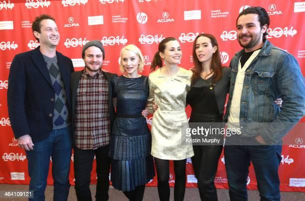 Sundance Film Festival Director of Programming Trevor Goth Brady Corbet Mona Fastvold Gitte Witt Stephanie Ellis and Christopher Abbott attend 'The...