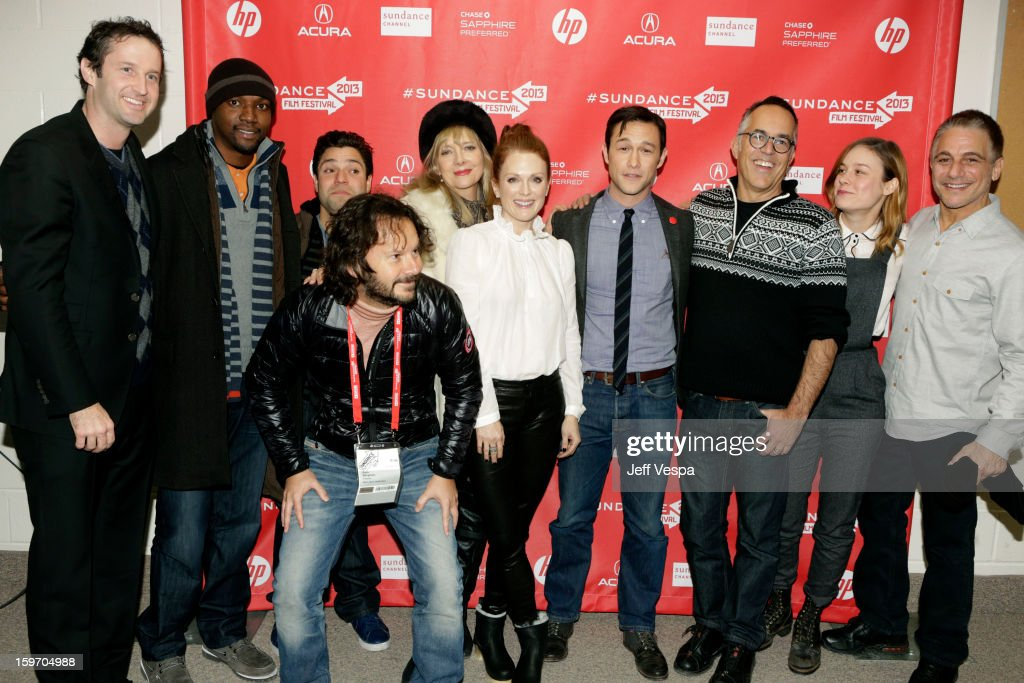 Sundance Film Festival Director of Programming <a gi-track='captionPersonalityLinkClicked' href=/galleries/search?phrase=Trevor+Groth&family=editorial&specificpeople=561179 ng-click='$event.stopPropagation()'>Trevor Groth</a>, actors Rob Brown and Jeremy Luke, producer Ram Bergman, actors <a gi-track='captionPersonalityLinkClicked' href=/galleries/search?phrase=Glenne+Headly&family=editorial&specificpeople=666564 ng-click='$event.stopPropagation()'>Glenne Headly</a> and <a gi-track='captionPersonalityLinkClicked' href=/galleries/search?phrase=Julianne+Moore&family=editorial&specificpeople=171555 ng-click='$event.stopPropagation()'>Julianne Moore</a>, actor/director <a gi-track='captionPersonalityLinkClicked' href=/galleries/search?phrase=Joseph+Gordon-Levitt&family=editorial&specificpeople=213632 ng-click='$event.stopPropagation()'>Joseph Gordon-Levitt</a>, Director of the Sundance Film Festival John Cooper and actors <a gi-track='captionPersonalityLinkClicked' href=/galleries/search?phrase=Brie+Larson&family=editorial&specificpeople=171226 ng-click='$event.stopPropagation()'>Brie Larson</a> and <a gi-track='captionPersonalityLinkClicked' href=/galleries/search?phrase=Tony+Danza&family=editorial&specificpeople=203133 ng-click='$event.stopPropagation()'>Tony Danza</a> attend 'Don Jon's Addiction' Premiere during the 2013 Sundance Film Festival at Eccles Center Theatre on January 18, 2013 in Park City, Utah.