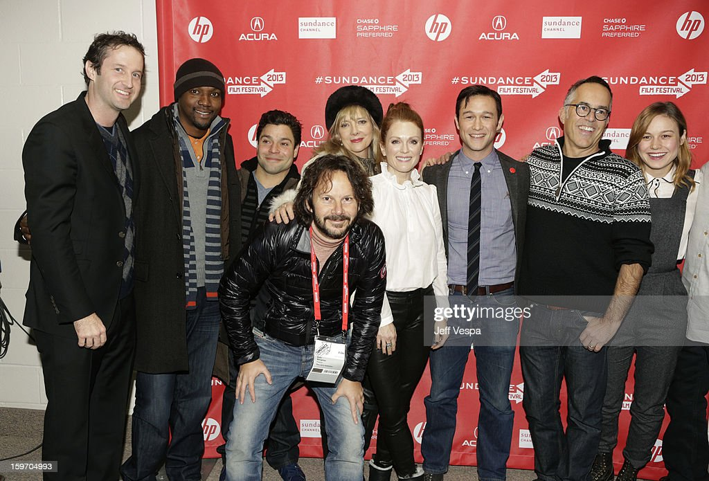 Sundance Film Festival Director of Programming <a gi-track='captionPersonalityLinkClicked' href=/galleries/search?phrase=Trevor+Groth&family=editorial&specificpeople=561179 ng-click='$event.stopPropagation()'>Trevor Groth</a>, actors Rob Brown and Jeremy Luke, producer Ram Bergman, actors <a gi-track='captionPersonalityLinkClicked' href=/galleries/search?phrase=Glenne+Headly&family=editorial&specificpeople=666564 ng-click='$event.stopPropagation()'>Glenne Headly</a> and <a gi-track='captionPersonalityLinkClicked' href=/galleries/search?phrase=Julianne+Moore&family=editorial&specificpeople=171555 ng-click='$event.stopPropagation()'>Julianne Moore</a>, actor/director <a gi-track='captionPersonalityLinkClicked' href=/galleries/search?phrase=Joseph+Gordon-Levitt&family=editorial&specificpeople=213632 ng-click='$event.stopPropagation()'>Joseph Gordon-Levitt</a>, Director of the Sundance Film Festival John Cooper and actress <a gi-track='captionPersonalityLinkClicked' href=/galleries/search?phrase=Brie+Larson&family=editorial&specificpeople=171226 ng-click='$event.stopPropagation()'>Brie Larson</a> attend 'Don Jon's Addiction' Premiere during the 2013 Sundance Film Festival at Eccles Center Theatre on January 18, 2013 in Park City, Utah.