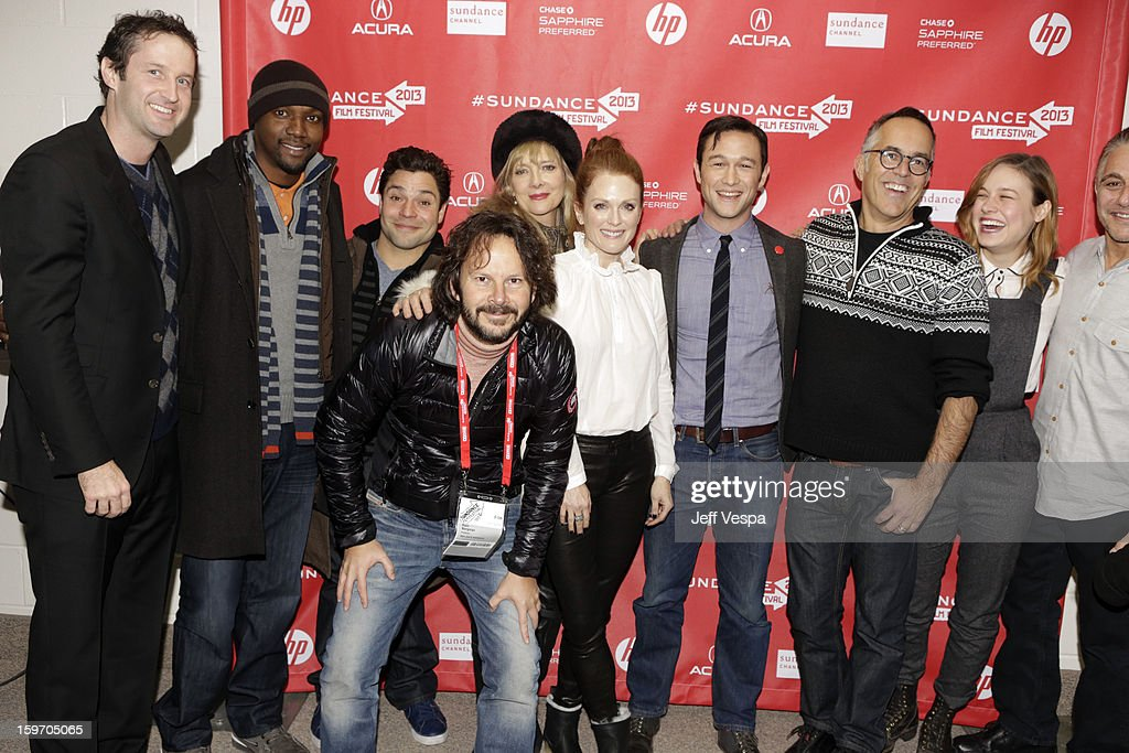 Sundance Film Festival Director of Programming Trevor Groth, actors Rob Brown and Jeremy Luke, producer Ram Bergman, actors Glenne Headly and Julianne Moore, actor/director Joseph Gordon-Levitt, Director of the Sundance Film Festival John Cooper and actors Brie Larson and Tony Danza attend 'Don Jon's Addiction' Premiere during the 2013 Sundance Film Festival at Eccles Center Theatre on January 18, 2013 in Park City, Utah.