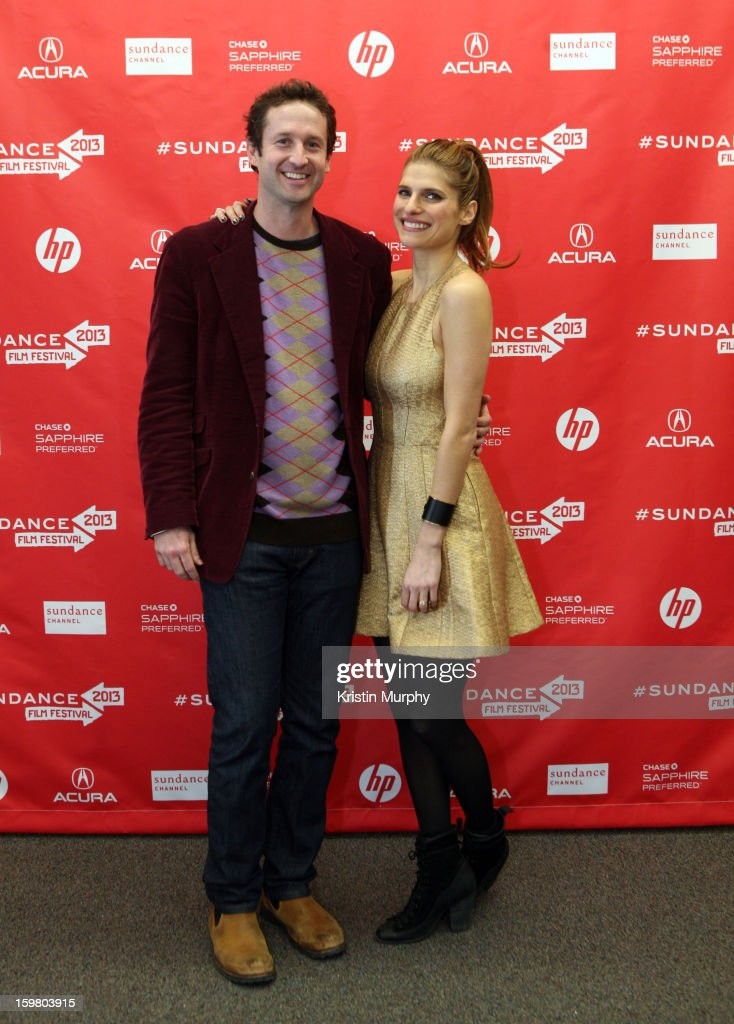 Sundance Film Festival Director of Programming Trevor Groth and actress/writer/director Lake Bell attend the 'In a World' premiere at the Library...