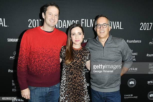 Sundance Film Festival Director of Programming Trevor Groth film maker Zoe ListerJones and Sundance Film Festival Director John Cooper attend the...
