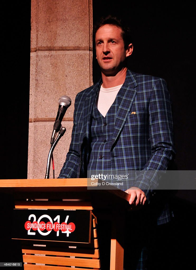 Sundance Film Festival Director of Programming Trevor Groth onstage at 'What We Do In The Shadows' premiere at the Egyptian Theatre during the 2014 Sundance Film Festival on January 19, 2014 in Park City, Utah.