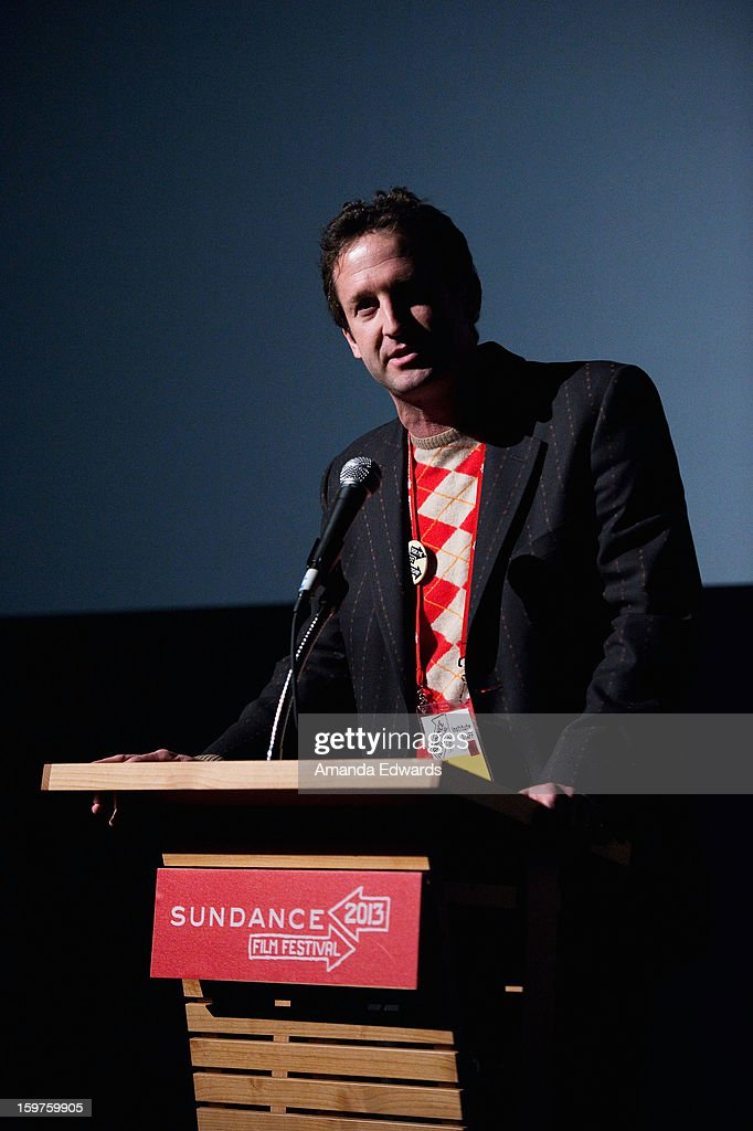 Sundance Film Festival director of programming <a gi-track='captionPersonalityLinkClicked' href=/galleries/search?phrase=Trevor+Groth&family=editorial&specificpeople=561179 ng-click='$event.stopPropagation()'>Trevor Groth</a> speaks at the 'Kink' premiere at Egyptian Theatre during the 2013 Sundance Film Festival on January 19, 2013 in Park City, Utah.