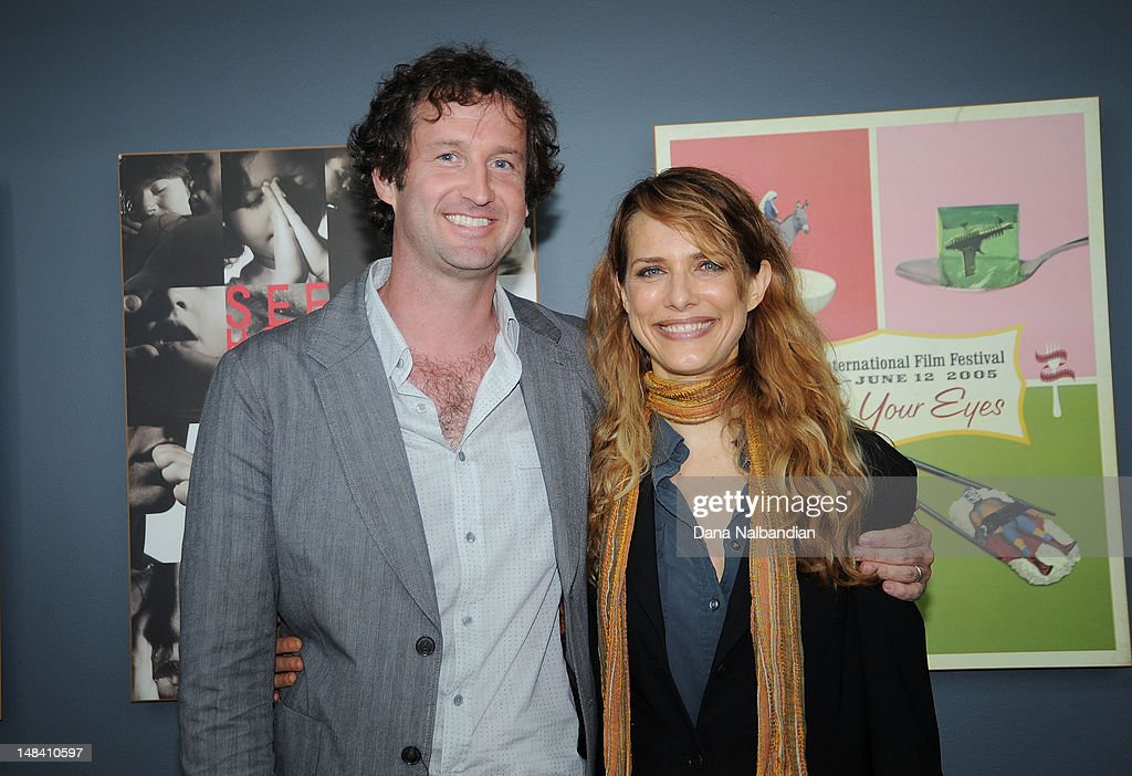 Sundance Film Festival director <a gi-track='captionPersonalityLinkClicked' href=/galleries/search?phrase=Trevor+Groth&family=editorial&specificpeople=561179 ng-click='$event.stopPropagation()'>Trevor Groth</a> and director Lynn Shelton at the Sudance Institute Seattle Shorts Lab at at SIFF Cinema on July 15, 2012 in Seattle, Washington.