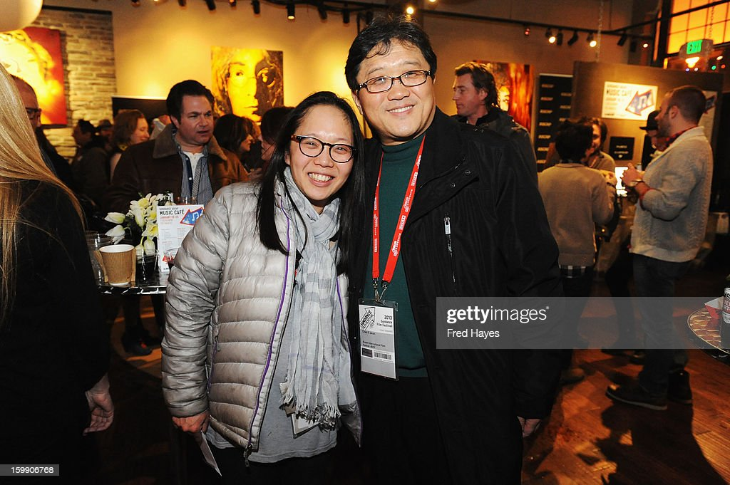 Sundance Film Festival Representative Irene Cho and Chan Il Jeon attend the ASCAP Composer Filmmaker Cocktail Party at ASCAP Music Cafe during the 2013 Sundance Film Festival on January 22, 2013 in Park City, Utah.