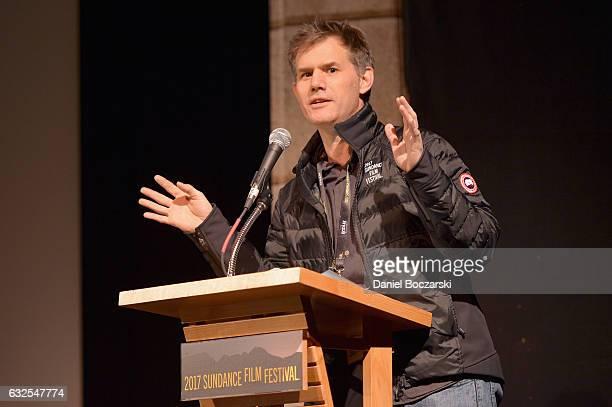 Sundance Film Festival Senior Programmer John Nein speaks on stage during the '78/52' Premiere at Egyptian Theatre on January 23 2017 in Park City...