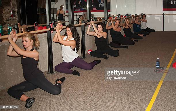 Sundance goers attend Pure Barre Hosts Popup Studio Day 3 2015 Park City on January 25 2015 in Park City Utah