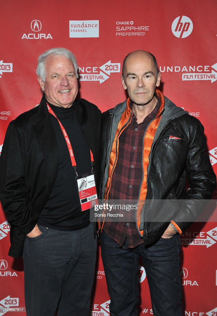 Sundance Institute Board of Trustees member Jim Swartz and director Robert Stone attend the 'Pandora's Promise' premiere at Prospector Square during the 2013 Sundance Film Festival on January 18, 2013 in Park City, Utah.