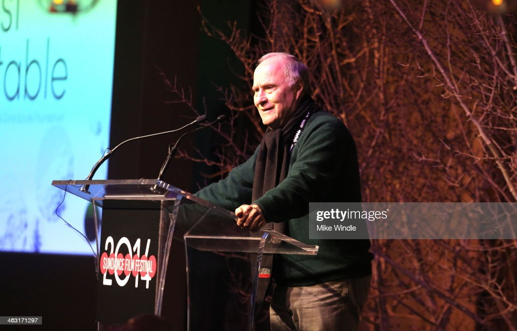 Sundance Institute Chairman of the Board of Trustees Wally Weisman speaks onstage at An Artist at the Table: Dinner Program during the 2014 Sundance Film Festival at Stein Eriksen Lodge on January 16, 2014 in Park City, Utah.