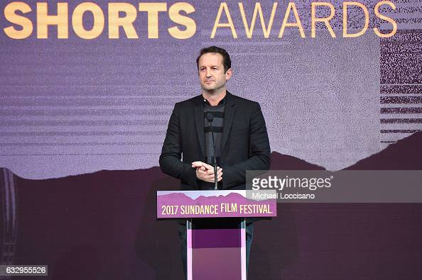 Sundance Institute Director of Programming Trevor Groth speaks during the 2017 Sundance Film Festival Awards Night Ceremony at Basin Recreation Field...