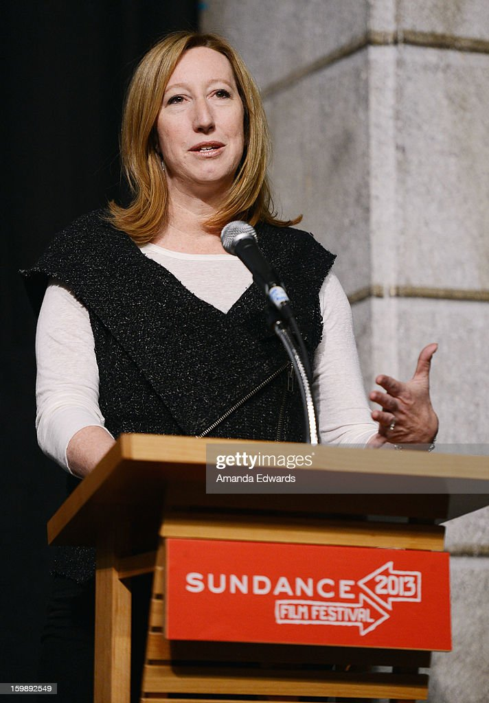 Sundance Institute Executive Director <a gi-track='captionPersonalityLinkClicked' href=/galleries/search?phrase=Keri+Putnam&family=editorial&specificpeople=226879 ng-click='$event.stopPropagation()'>Keri Putnam</a> attends the Once Upon A Quantum Symmetry: Science In Cinema Panel at Egyptian Theatre during the 2013 Sundance Film Festival on January 22, 2013 in Park City, Utah.