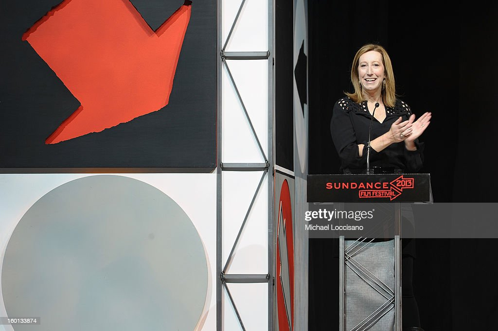 Sundance Institute Executive Director Keri Putnam speaks onstage at the Awards Night Ceremony during the 2013 Sundance Film Festival at Basin Recreation Field House on January 26, 2013 in Park City, Utah.