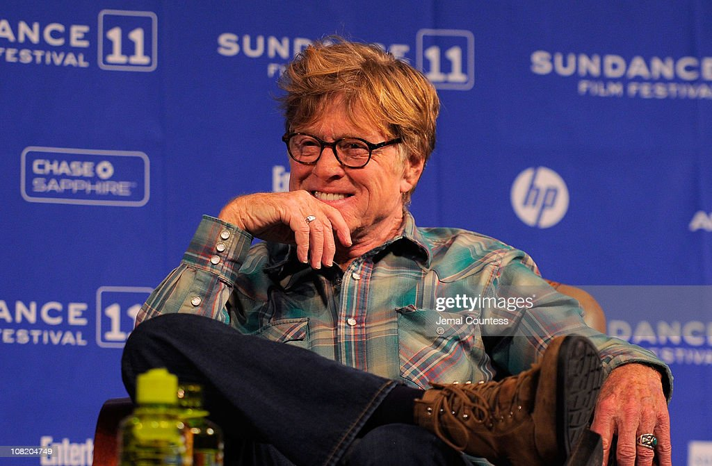 Sundance Institute Founder and President Robert Redford speaks at the Day 1 Press Conference during the 2011 Sundance Film Festival at the Egyptian...