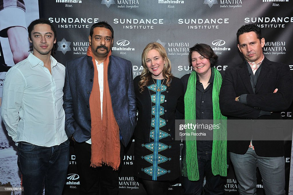 Sundance Institute Mahindra Global Filmmaking Award winning directors Jonas Carpignano, Sarthak Dasgupta, Vendela Vida, Eva Weber and Aly Muritiba attend the Sundance Institute Mahindra Global Filmmaking Award Reception at Sundance House on January 22, 2013 in Park City, Utah.